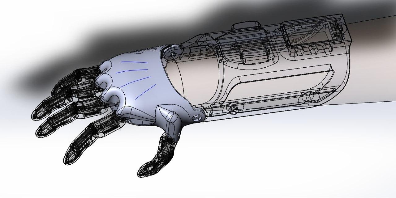 Тяговый протез руки