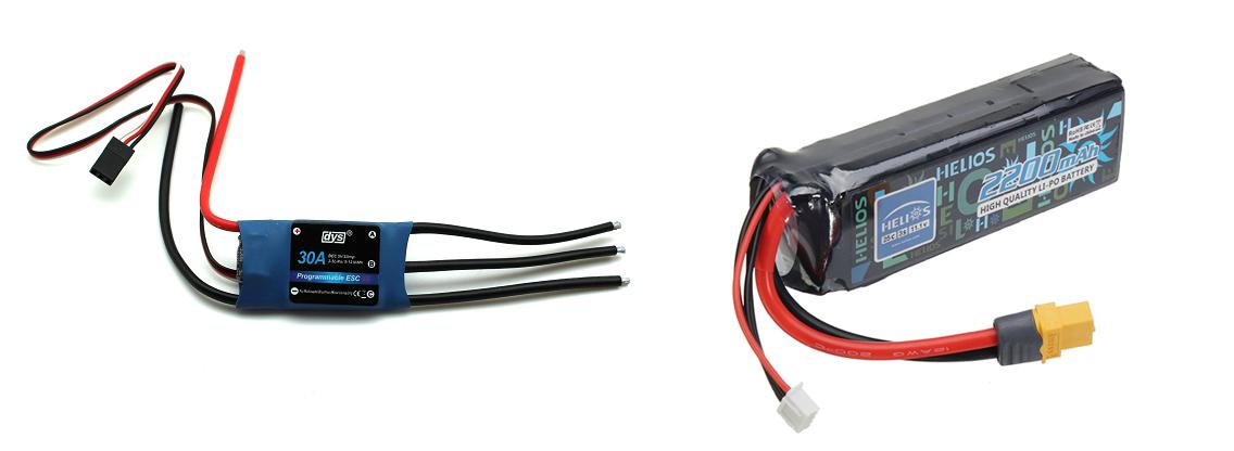 регулятор оборотов с батареей для квадрокоптера